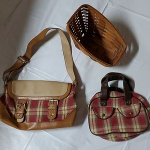 Longaberger purse and basket set